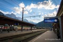 Am Bahnhof von Lienz geht die Alpenüberquerung zu Ende